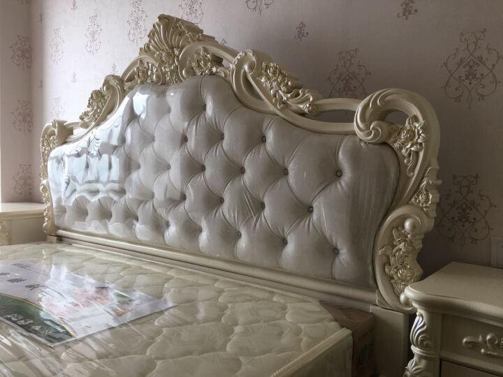 欧莲娜(ouliana) 床 欧式床 双人公主雕花婚床 1.8米 卧室皮床家具 实木骨条 双人婚床皮尾(箱框加700元) 1800*2000框架床 晒单图