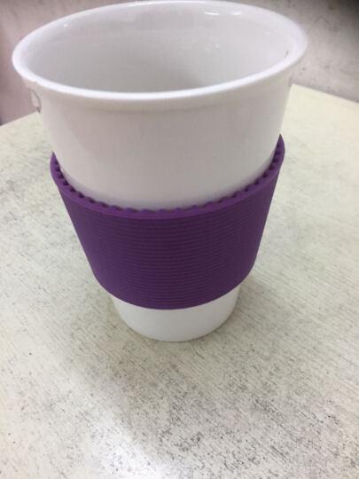 乐扣乐扣(LOCK&LOCK) 陶瓷杯 咖啡杯 水杯 茶杯 马克杯情侣杯带盖 370ml 紫色005PUR陶瓷盖子 晒单图