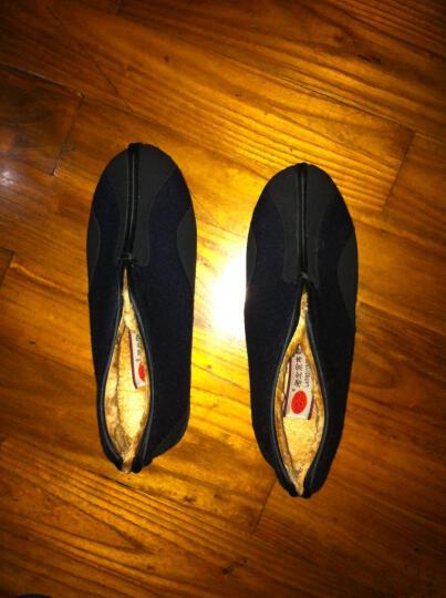 颐福元老北京布鞋男冬款棉鞋爸爸棉靴保暖老人鞋高帮中老年防滑软底 蓝色 39 晒单图