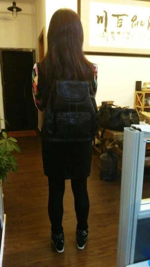【领7折券146.3疯抢中】刻度女士双肩包 韩版时尚潮流牛皮背包大容量多功能女包 浅蓝色 晒单图