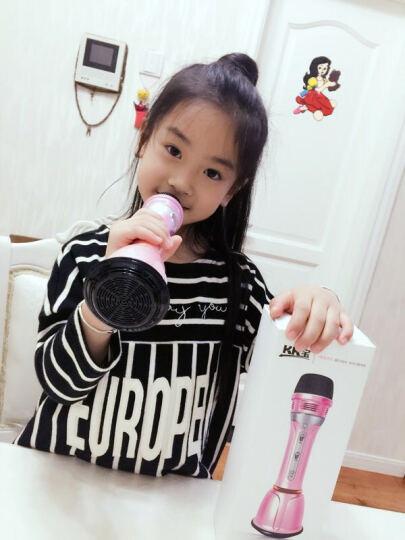 哲顺玩具(ZHE SHUN TOYS) 男女孩儿童麦克风卡拉OK唱歌机早教话筒玩具可充电 炫彩麦克风(蓝色) 晒单图