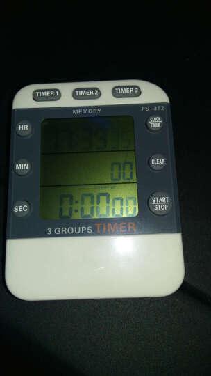 品益 PS382计时器 定时器 提醒器 定时开关 定时插座 倒计时器 三通道 大音亮提醒器 晒单图