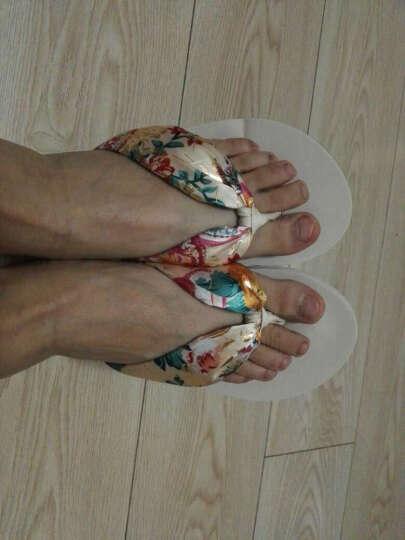 优品鞋靴 凉拖鞋女夏季沙滩外穿拖鞋人字拖鞋中跟厚底凉拖鞋厚底浴室拖鞋 白色猫咪 240(36-37)偏小半码 晒单图