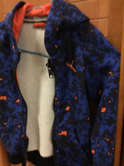puma童装男童秋冬季外套儿童休闲运动服棉质加绒保暖衣服 新海军蓝 110 晒单图