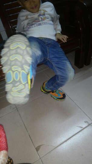 童鞋男女童儿童运动鞋新款秋冬加绒户跑步鞋休闲鞋防滑保暖透气小中大童棉鞋 宝蓝  皮面 37码(内长23.8cm)正码 晒单图
