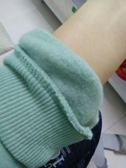 芊艺卫衣女加绒加厚套头秋冬2017印花宽松上衣T恤 浅绿色加绒 XL 晒单图
