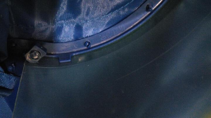 雨翔新款唐翔头盔式面罩单人双人电动车摩托车自行车雨披加厚雨衣 雨翔双人电动车(加大款)枣红 晒单图
