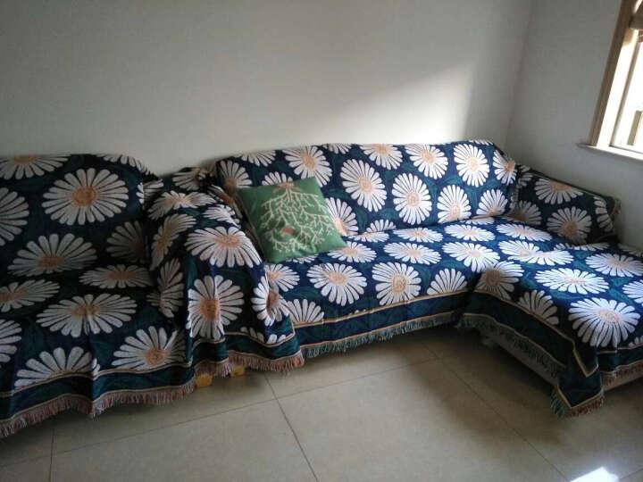忆悦 美式乡村双面加厚线毯沙发垫空调毯子防滑沙发罩沙发巾盖毯布四季沙发垫坐垫套装飘窗垫窗台 雏菊绽放 230*250cm 晒单图