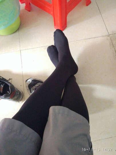 Nplatz 男士SmooFit 110D连裤袜 基本款·前门襟设计 黑色 M-L 晒单图