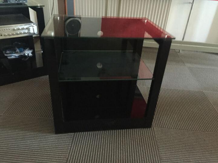 捷盛C1-60三层功放机架黑色烤漆钢化玻璃木质机柜发烧专业音响设备器材柜子影院音箱立柜 晒单图