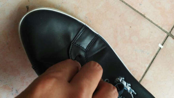 【品牌直营 经典白鞋】卡帝乐鳄鱼(CARTELO)男鞋休闲鞋 运动户外板鞋 鞋子男士小白鞋TS 白色1496 40 晒单图