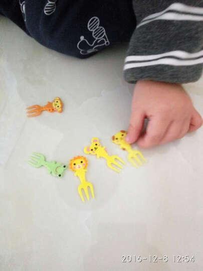 悠悠趣生活 儿童水果叉可爱迷你便当饭盒签创意小动物卡通造型装饰签蛋糕叉烘焙工具 动物三叉子 晒单图