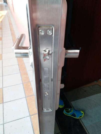 质胜 超D级叶片锁芯防盗门锁套装12把钥匙大门不锈钢拉手把手锁具 双快双活圆柱锁体+升级D级12把钥匙 请备注好测量尺寸 晒单图