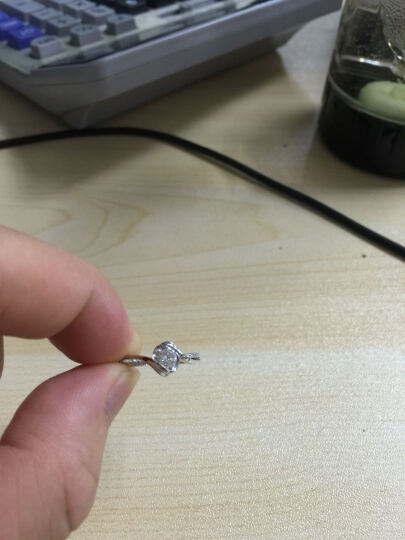 佐卡伊 邂逅 钻戒钻石结婚女戒求婚戒指 1克拉效果D-E/VVS 定制 晒单图