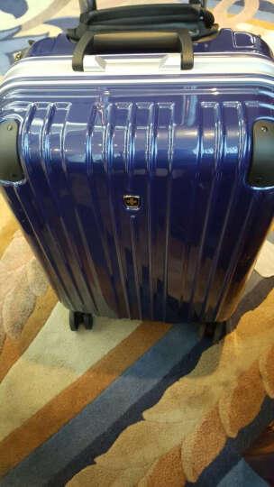 瑞动(SWISSMOBILITY)20英寸时尚竖条PC+ABS铝框拉杆箱旅行箱万向轮登机箱MT-5067-12T00宝石蓝 晒单图