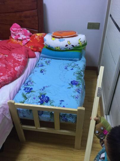 单人床 实木孩子折叠床双人床 硬板床松木办公室午休床 医院陪护床木板床婴儿床进口新西兰实木 60CM宽新西兰松木加宽母子床 晒单图