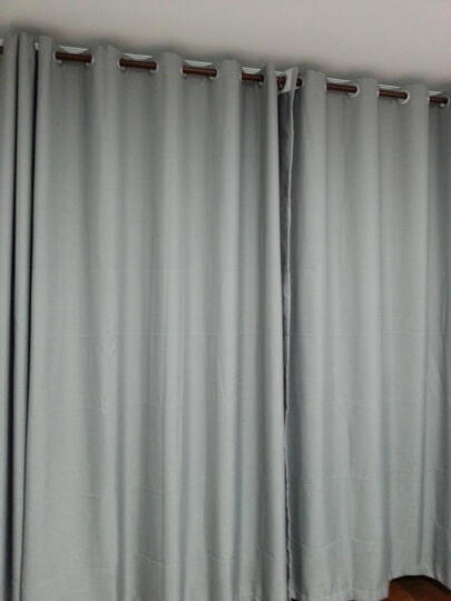 拉芳家园 简约现代纯色素色棉麻亚麻窗客厅卧室阳台飘窗成品定制遮光窗帘布 玫瑰红 【挂钩】3.0×2.7米高 1片  免费改短 晒单图