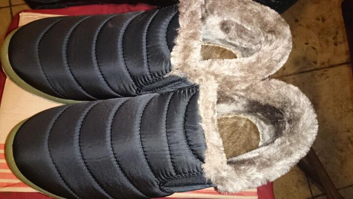 美连诚 休闲鞋男18冬季男鞋棉鞋男加绒加厚防水驾车鞋休闲男士大码高帮雪地靴男女 816黑色 40 晒单图