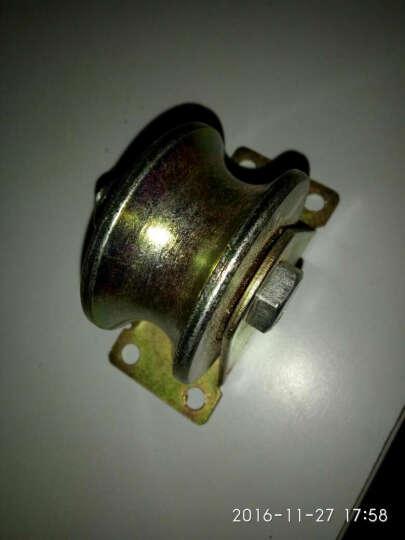 V型轮U型轮钢丝轨道轮轴承滑轮槽轮轨道滑轮定滑轮U槽滑轮小滑轮钢丝滑轮铁门滑轮直线轮定向轮 4寸V型轨道轮 晒单图