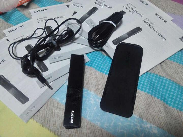 索尼(SONY) 录音笔TX650微型录音棒 专业商务会议智能降噪录音器 迷你便携 ICD-TX650(16G) 晒单图