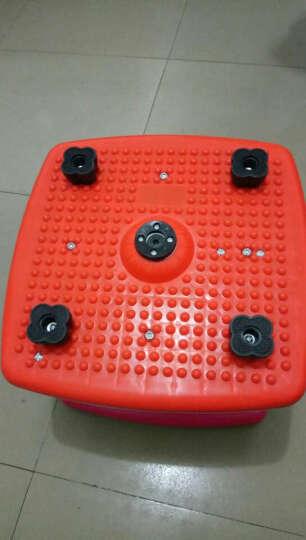 韩版双弹簧减肥塑身扭腰机跳舞机扭腰盘家用运动器材踏步机健身扭扭乐 加强版炫彩粉扭腰机 晒单图