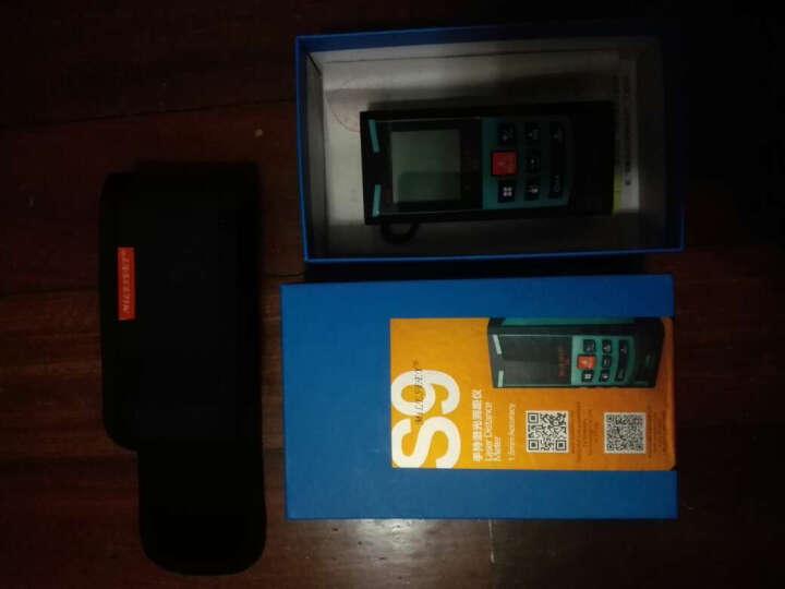 迈测S9 手持式激光测距仪电子尺激光尺水平仪电子测量仪量房仪  双水平气泡 100米蓝色 晒单图