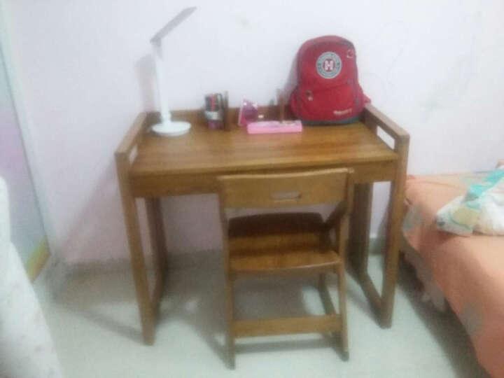 华谊(HUAYI) 华谊 书桌书架组合 实木可调节儿童学习桌 升降学习桌(带书架) 仿古色 晒单图