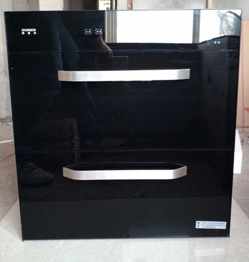 欧尼尔(OUNIER) 消毒柜消毒碗柜嵌入式内嵌大容量高温低温家用臭氧紫外线厨房茶具X8 银色高温 晒单图