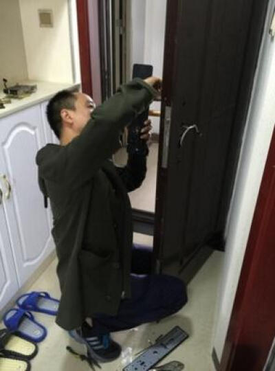 塞纳春天指纹锁 电子门锁密码锁 家用智能锁 轻奢红古铜X7-APP智能  左右通用 晒单图