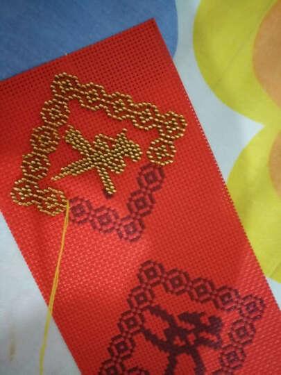 鸿胤蒙娜丽莎 十字绣车挂件平安符汽车挂件带中国结满珠绣新款吊坠印花钥匙扣车饰挂饰 FH024单件(套件) 长0.1米*宽0.1米 晒单图