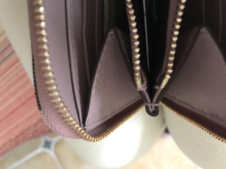 BURBERRY 巴宝莉 女款HOUSE系列浅粉色织物配皮全拉链长款钱夹 39968781 晒单图