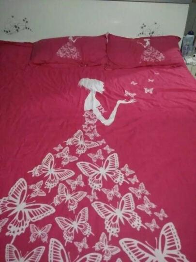 萱之悦 全棉四件套大版花优质棉 套件卡通家纺床上用品 全棉大版花-快乐小鹿 1.8米床(适合200*230的被子) 晒单图