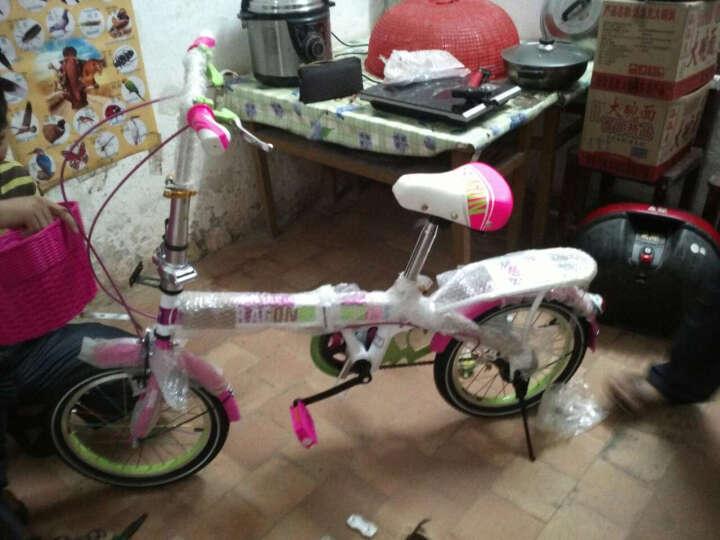宝贝龙 小孩子儿童自行车知更鸟儿童折叠自行车学生小孩子12/16寸便携单车童车多省包邮 琦乐粉红带辅助轮 16 晒单图
