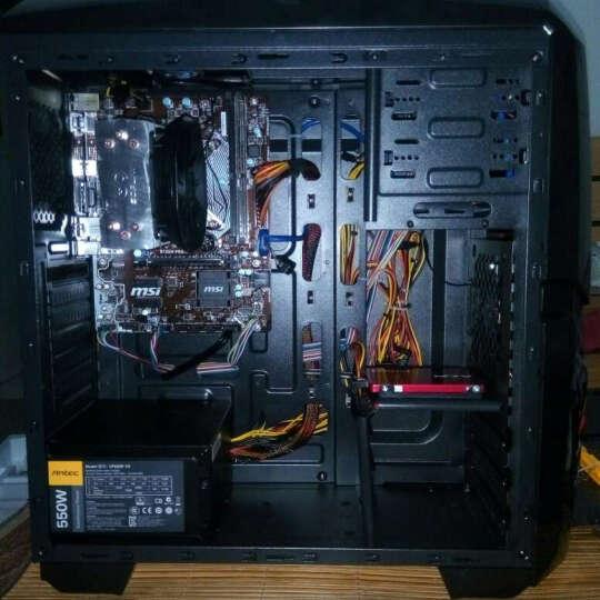 金达灵剑游戏系列台式家用游戏机箱(前置U3/兼容SSD硬盘/支持ATX主板/走背线) 灵剑黑色+500W电源 晒单图
