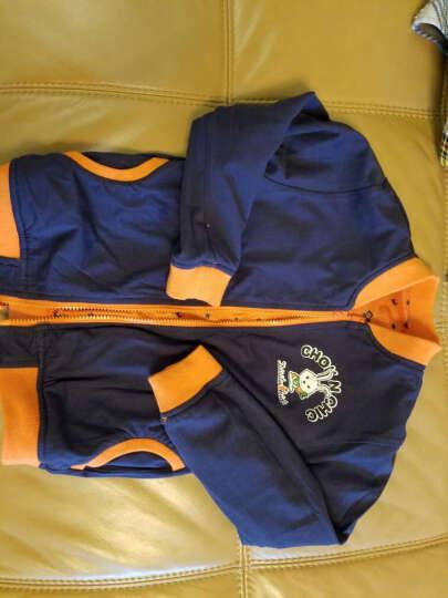 迪斯兔 男童外套薄款茄克春秋装中大童拉链长袖上衣小孩短风衣儿童夹克 蓝色 130cm 晒单图