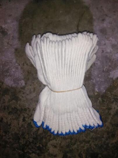道酬 劳保纱手套工作白色工地机械喷漆内外墙装修施工防护喷油漆家庭装修棉纱线手套1双=2只价格 1双=2只=50克 晒单图