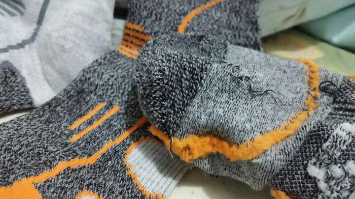 威迪瑞男女款户外运动快干袜速干袜子 加厚保暖跑步徒步骑行袜登山袜 白灰色/3双装 晒单图
