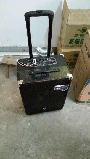 双诺 SN-09 8英寸低音蓝牙音箱 户外广场舞音响 便携式拉杆音箱 移动大功率扩音器 无麦 黑色 晒单图