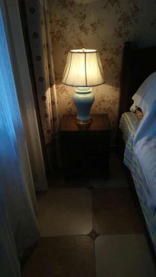 圣玛帝诺 创意欧式陶瓷台灯 卧室 床头简约古典陶瓷装饰现代简约卧室布艺全铜台灯 AV-1260冰裂纹按钮 晒单图