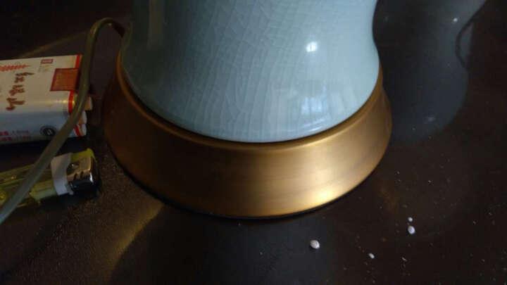 圣玛帝诺 创意欧式陶瓷台灯 卧室 床头简约古典陶瓷装饰现代简约卧室布艺全铜台灯 AV-1260冰裂纹调光 晒单图