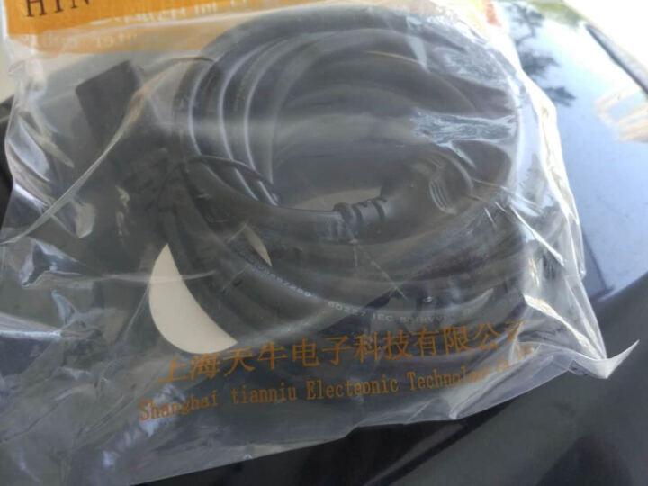 海天牛(HAITIANNIU) 1平方电源线 电饭煲水壶台式机电脑电源线服务器投影仪主机电线插头 1平方黑色 1米 晒单图