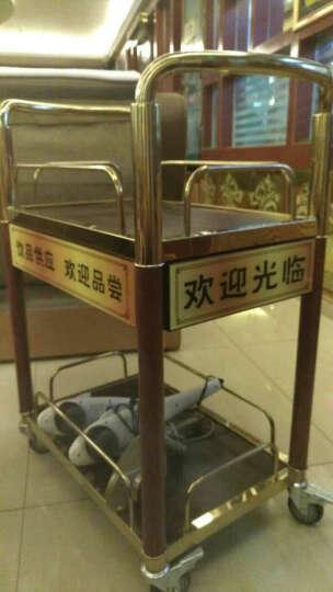 南方酒水手推车酒店餐车酒水车家用小推车移动茶水推车茶水车 C-83钛金 带抽屉 晒单图