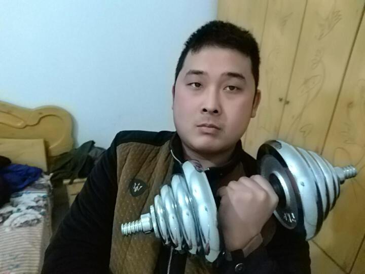 凯速电镀哑铃杠铃40KG(20公斤*2)蓝杆简装体育运动套装健身器材哑铃男女士家用组合套装赠35cm连接杆 晒单图