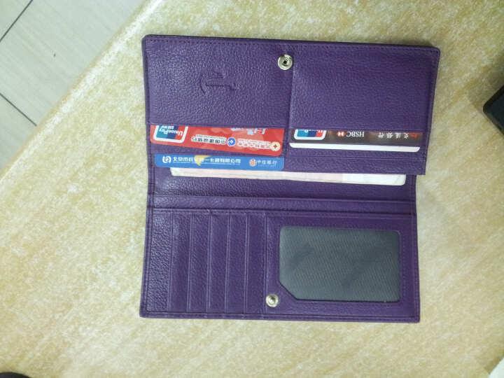 鳄鱼恤新款女钱包 女士经典简约长款牛皮糖果色女钱夹韩版卡包手拿包抖音同款 紫色 晒单图