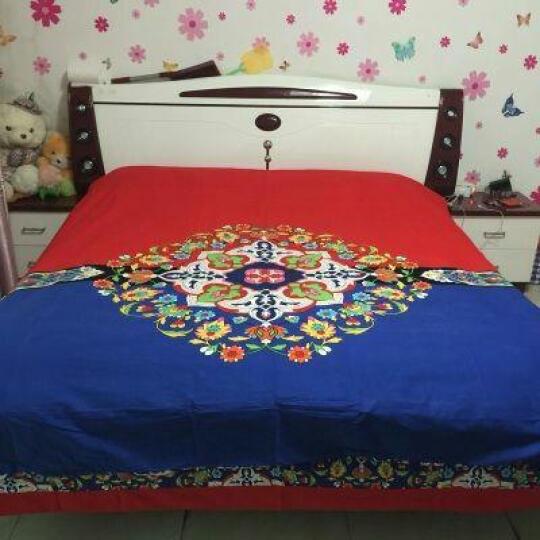 馨窝 全棉四件套纯棉 小清新床罩四件套 卡通全棉床上用品加厚床裙四件套 迷迭香粉 (四件套)1.8米床裙 2.2*2.4米被套 晒单图