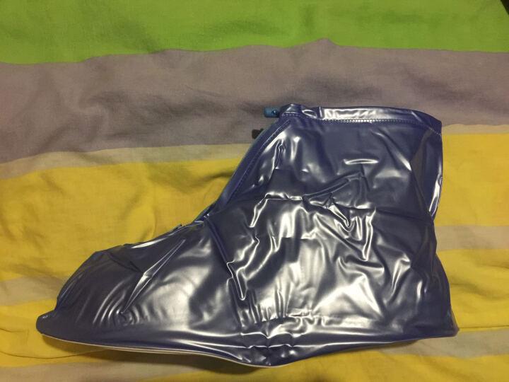 图跃(TUYUE)户外防雨鞋套男女加厚底雨鞋 雨天防水鞋套 防滑雨靴套 平底蓝40-43 晒单图