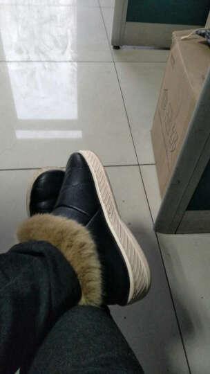安尚芬 男士大码棉拖鞋 冬季加厚毛绒室内居家厚底防滑保暖棉鞋 无痕地板拖 包跟棉拖鞋 635黑色 42-43适合40-41 晒单图