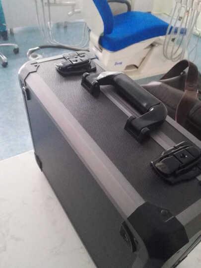 茜菲娅 铝合金美容美发仪器箱 手提工具箱 护肤品箱 防震箱 单反相机箱 配海棉G509 黑色带防震棉 晒单图