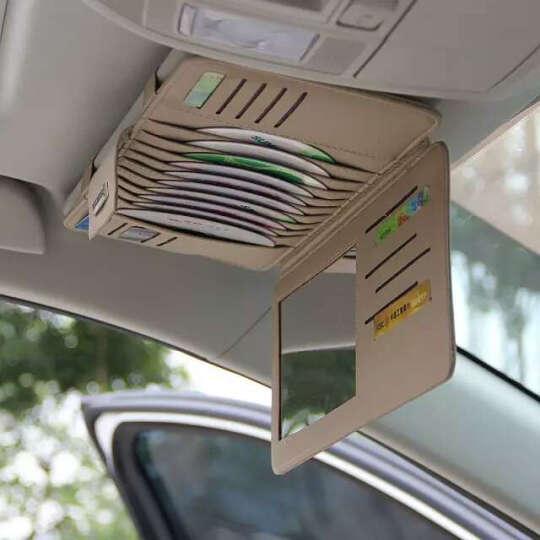 金贤利  汽车CD夹遮阳板套多功能车载CD夹CD袋CD包车用名片卡片夹收纳用品 米色款 比亚迪元 E6 E5 F3R F6 S8 晒单图