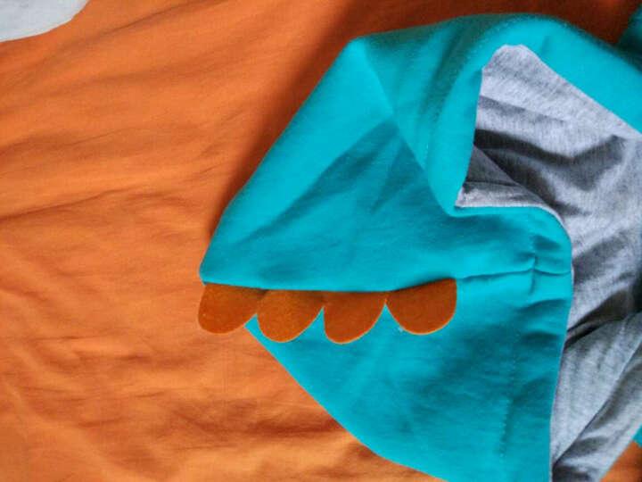 俞兆林童装儿童卫衣带帽外套男女童百搭拉链上衣 云朵恐龙-果绿 120CM 晒单图